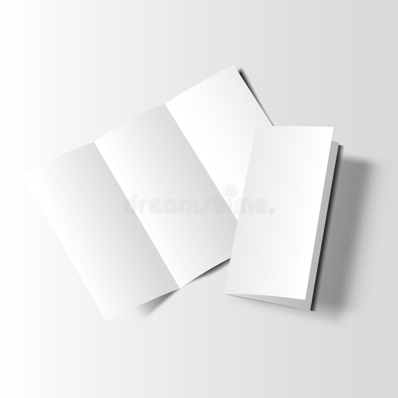 Κενό πρότυπο δύο φυλλάδιων απεικόνιση αποθεμάτων