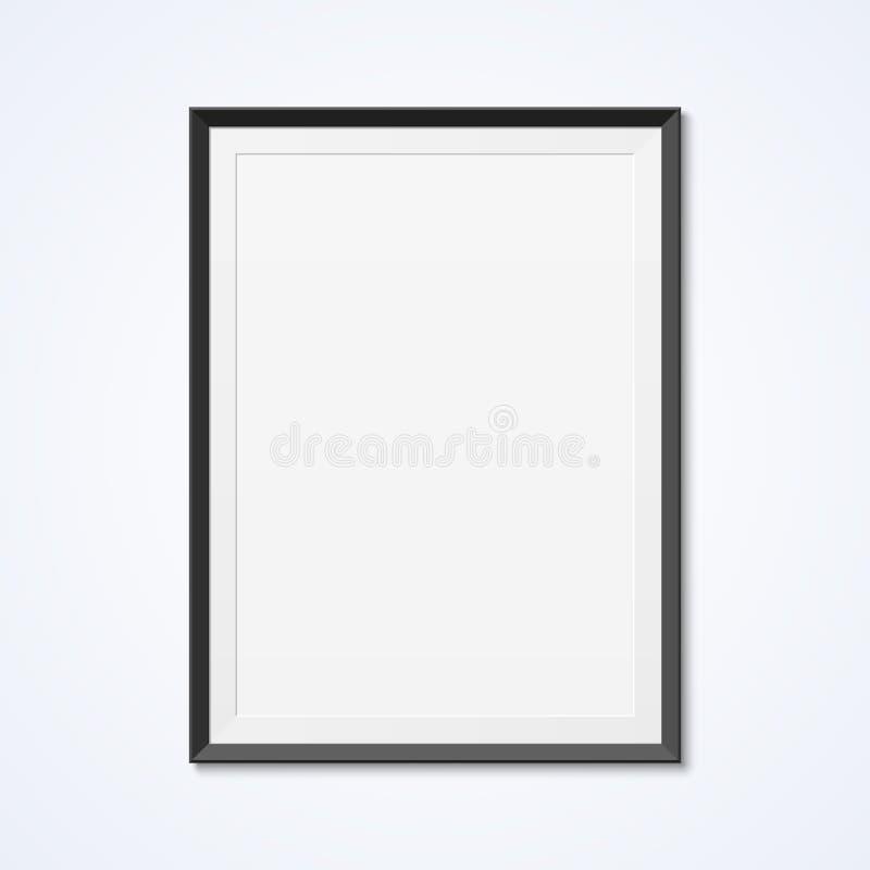 Κενό πλαίσιο σε έναν τοίχο ελεύθερη απεικόνιση δικαιώματος