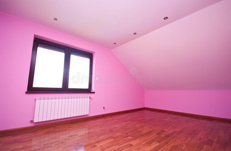 Κενό ρόδινο δωμάτιο στοκ φωτογραφία