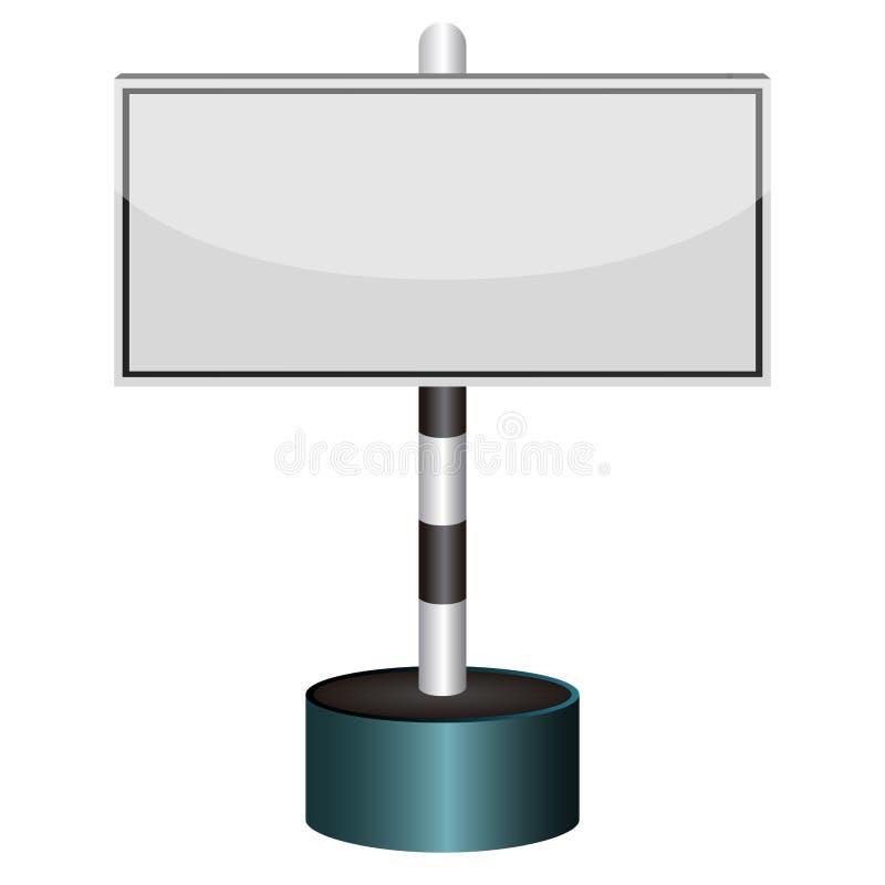 Κενό σήμα κυκλοφορίας απεικόνιση αποθεμάτων
