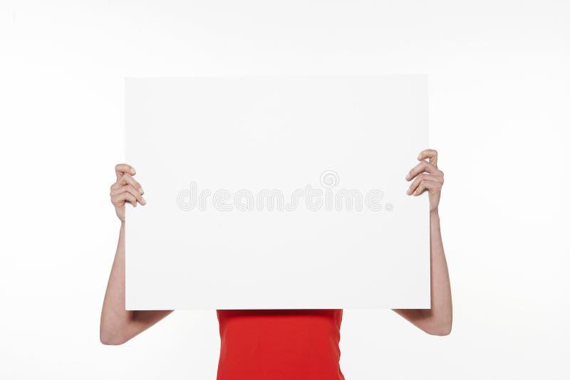 Κενό σημάδι εκμετάλλευσης γυναικών - άσπρο υπόβαθρο - που απομονώνεται στοκ εικόνες