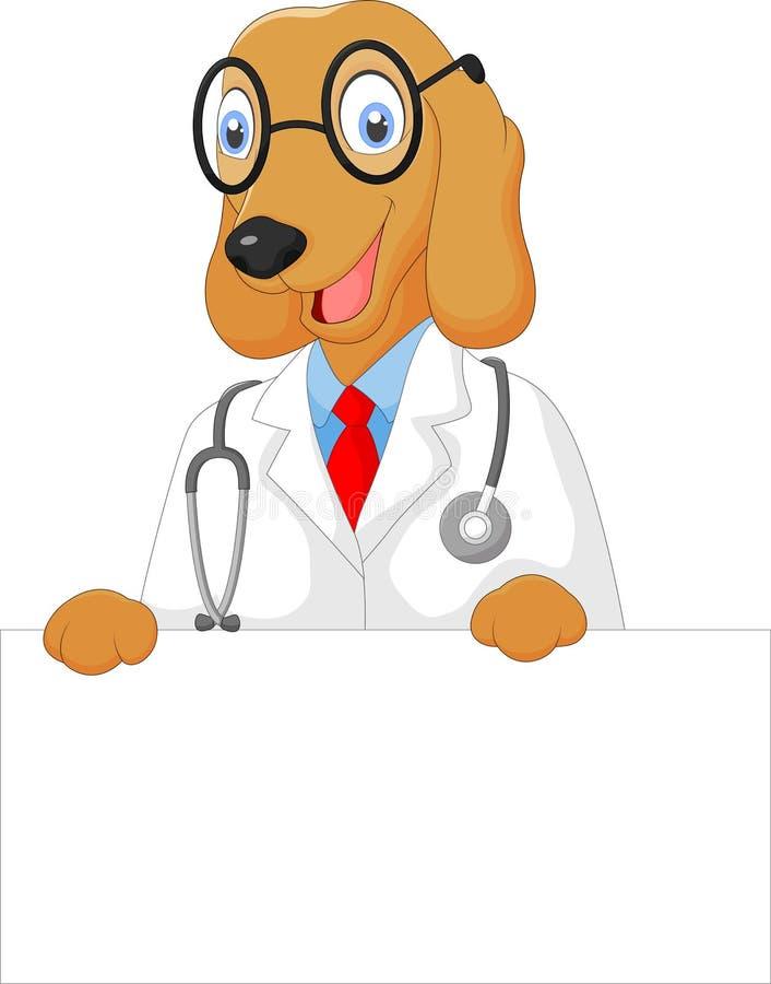 Κενό σημάδι εκμετάλλευσης σκυλιών γιατρών κινούμενων σχεδίων ελεύθερη απεικόνιση δικαιώματος