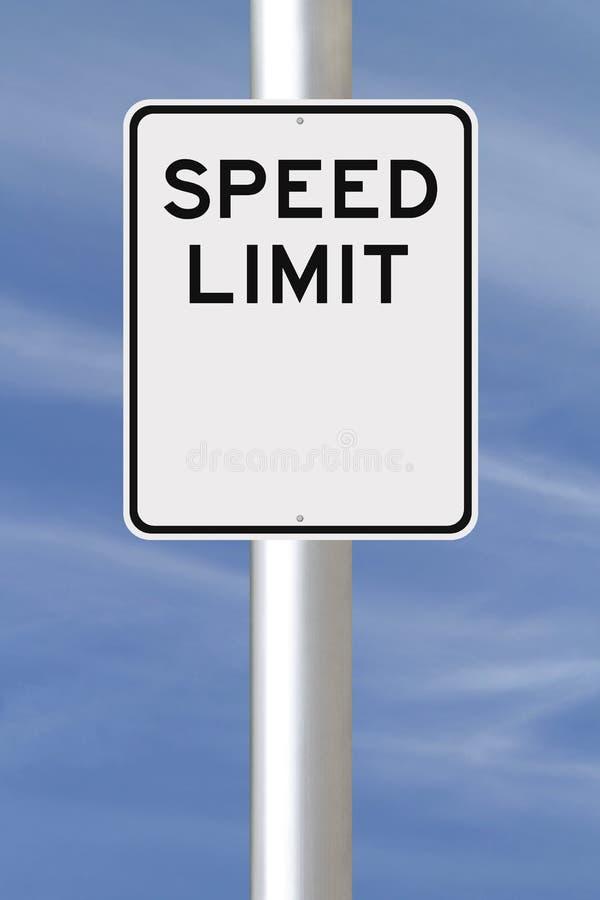 Κενό σημάδι ορίου ταχύτητας στοκ φωτογραφία με δικαίωμα ελεύθερης χρήσης