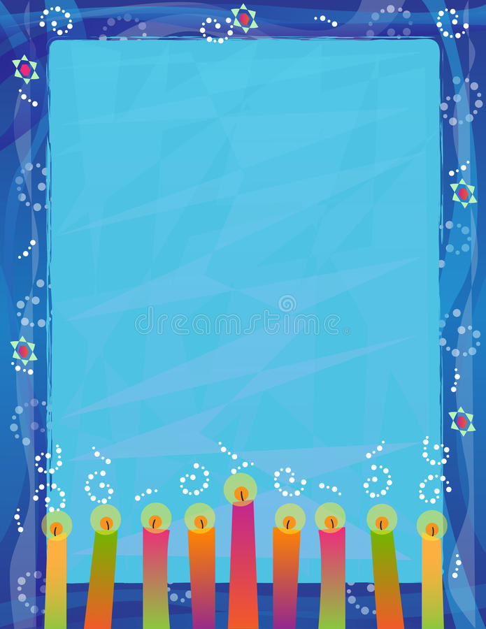 Κενό σημάδι Hanukkah διανυσματική απεικόνιση