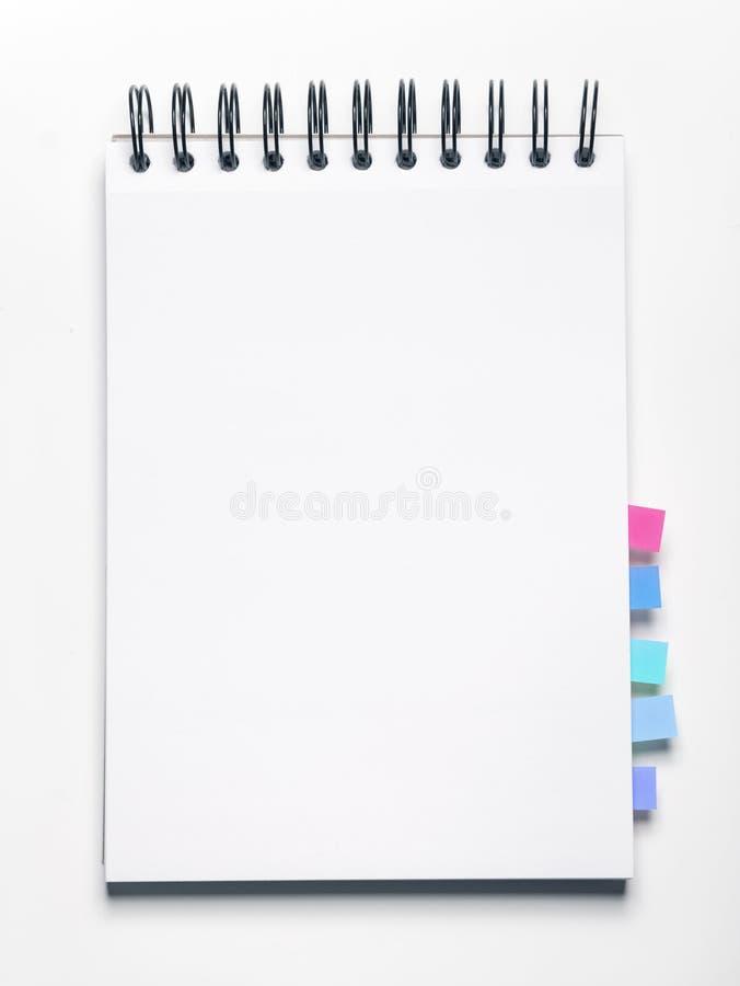 κενό σημειωματάριο σελιδοδεικτών στοκ φωτογραφία με δικαίωμα ελεύθερης χρήσης