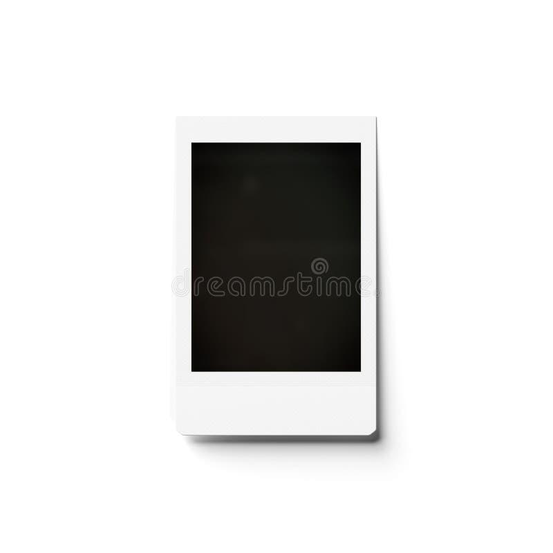 Κενό στιγμιαίο πρότυπο φωτογραφιών που απομονώνεται στην άσπρη τρισδιάστατη απόδοση διανυσματική απεικόνιση