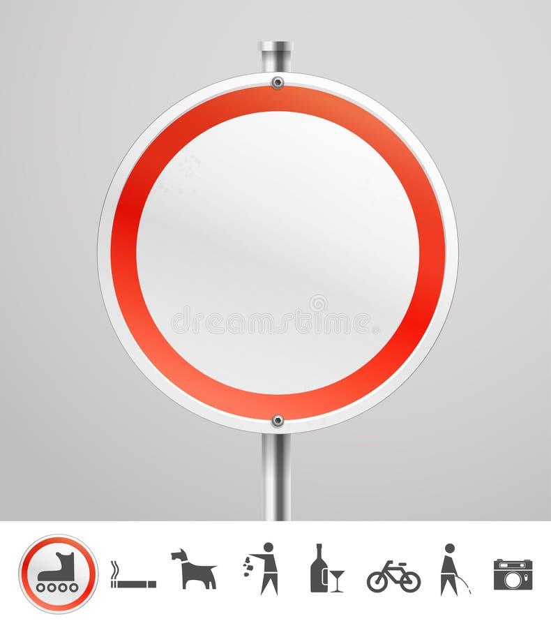 Κενό στρογγυλό αστικό σημάδι απεικόνιση αποθεμάτων