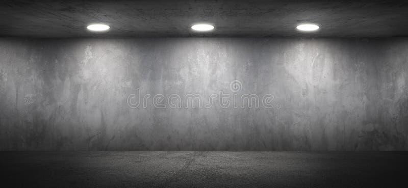 Κενό συγκεκριμένο γραφείων υπόβαθρο τοίχων δωματίων κατασκευασμένο στοκ φωτογραφία με δικαίωμα ελεύθερης χρήσης