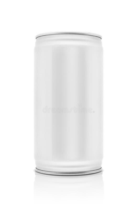 Κενό συσκευάζοντας δοχείο ποτών που απομονώνεται στο άσπρο υπόβαθρο στοκ εικόνα
