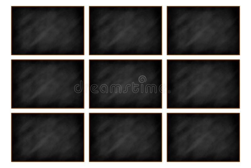 Κενό σχέδιο πινάκων κιμωλίας στοκ εικόνες