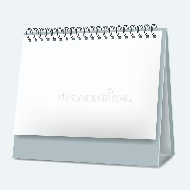Κενό σχέδιο ημερολογιακού ρεαλιστικό ύφους υπολογιστών γραφείου διάνυσμα απεικόνιση αποθεμάτων
