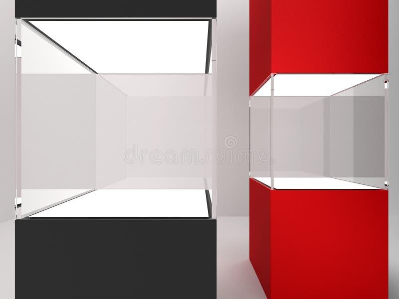 κενό τετράγωνο δύο γυαλι διανυσματική απεικόνιση