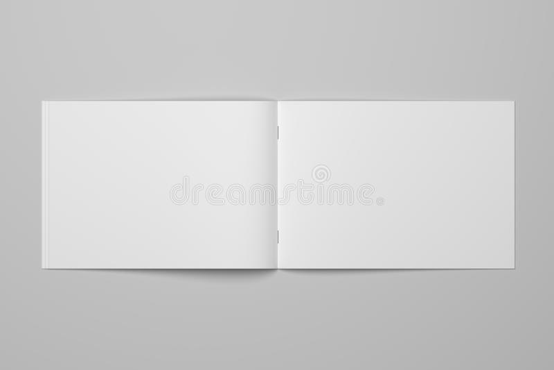 Κενό τρισδιάστατο περιοδικό φυλλάδιων απόδοσης σε γκρίζο με το ψαλίδισμα της πορείας αριθ. 4 απεικόνιση αποθεμάτων