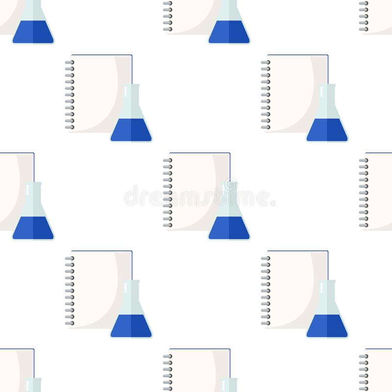 Κενό φιαλίδιο σελίδων σημειωματάριων άνευ ραφής ελεύθερη απεικόνιση δικαιώματος