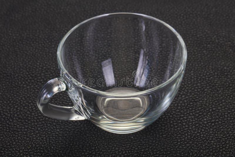 Κενό φλυτζάνι γυαλιού στοκ εικόνες