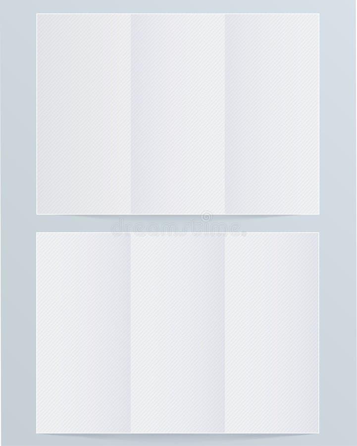 Κενό φυλλάδιο σχεδιαγράμματος απεικόνιση αποθεμάτων