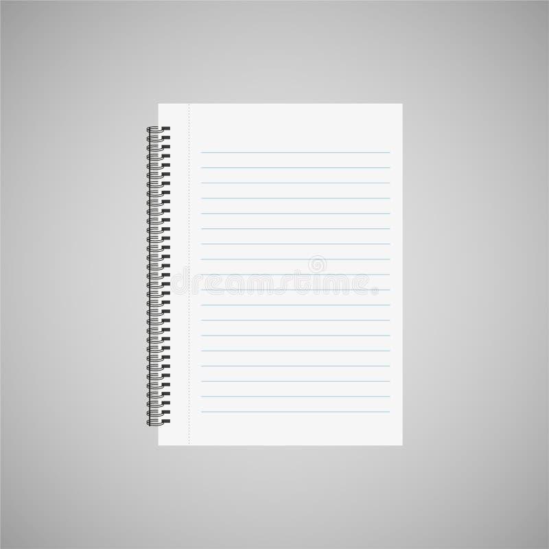 Κενό φύλλο του εγγράφου με τους κυβερνήτες Απομονωμένος σε ένα γκρίζο υπόβαθρο απεικόνιση αποθεμάτων