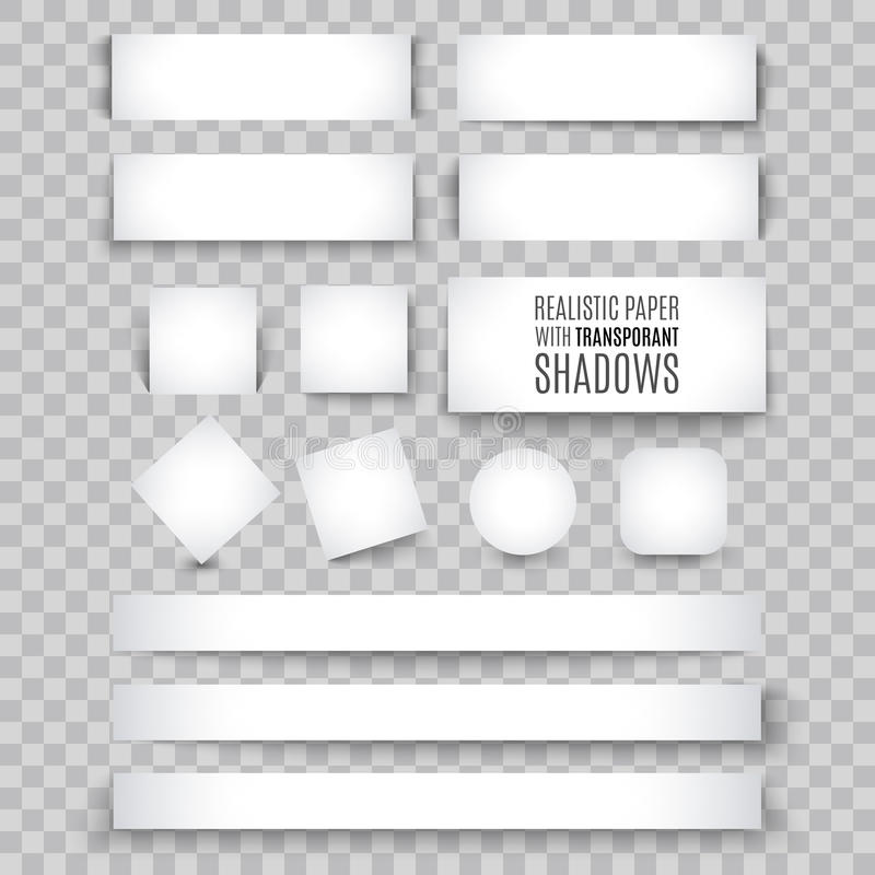 Κενό φύλλο του εγγράφου με την μπούκλα σελίδων και τη σκιά, στοιχείο σχεδίου απεικόνιση αποθεμάτων