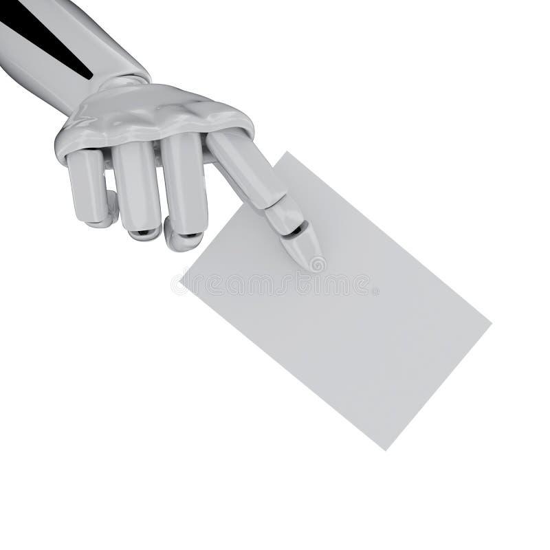 κενό χέρι επαγγελματικών καρτών ρομποτικό ελεύθερη απεικόνιση δικαιώματος