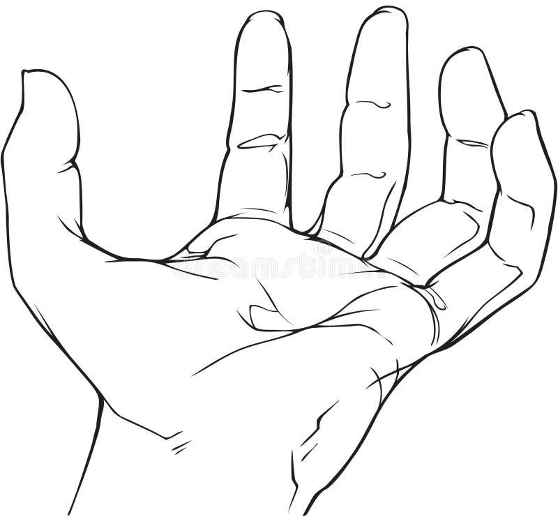 κενό χέρι διανυσματική απεικόνιση