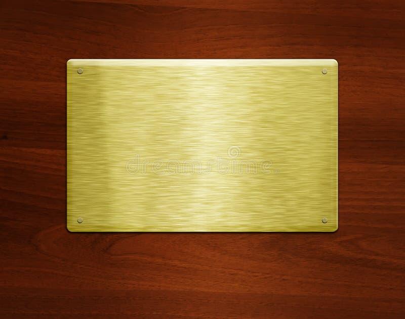 Κενό χρυσό πιάτο στοκ φωτογραφία με δικαίωμα ελεύθερης χρήσης