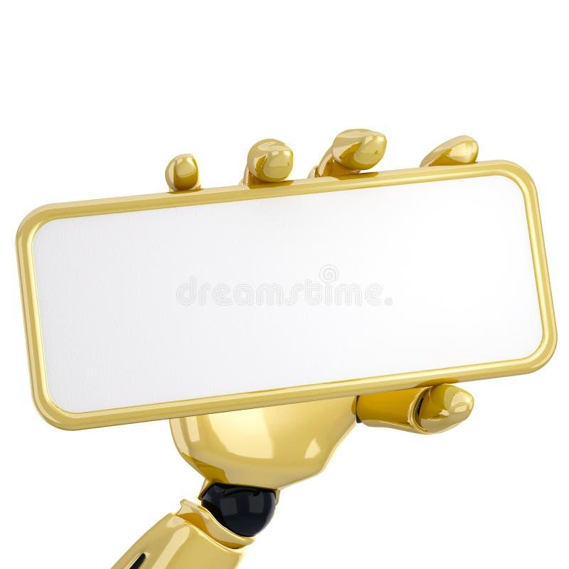 κενό χρυσό πιάτο απεικόνιση αποθεμάτων