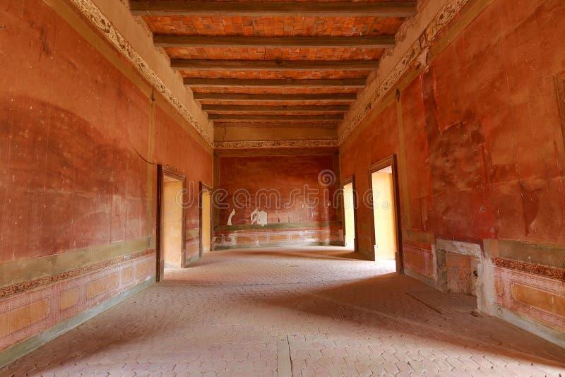 Κενό δωμάτιο στο εγκαταλειμμένο hacienda στο Μεξικό στοκ εικόνες με δικαίωμα ελεύθερης χρήσης
