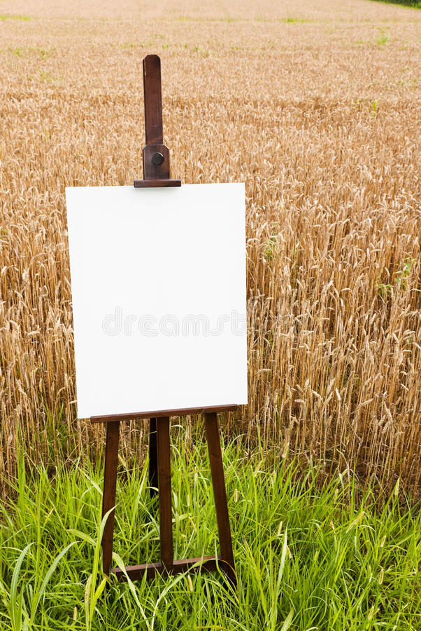 κενό easel καμβά στοκ εικόνα με δικαίωμα ελεύθερης χρήσης