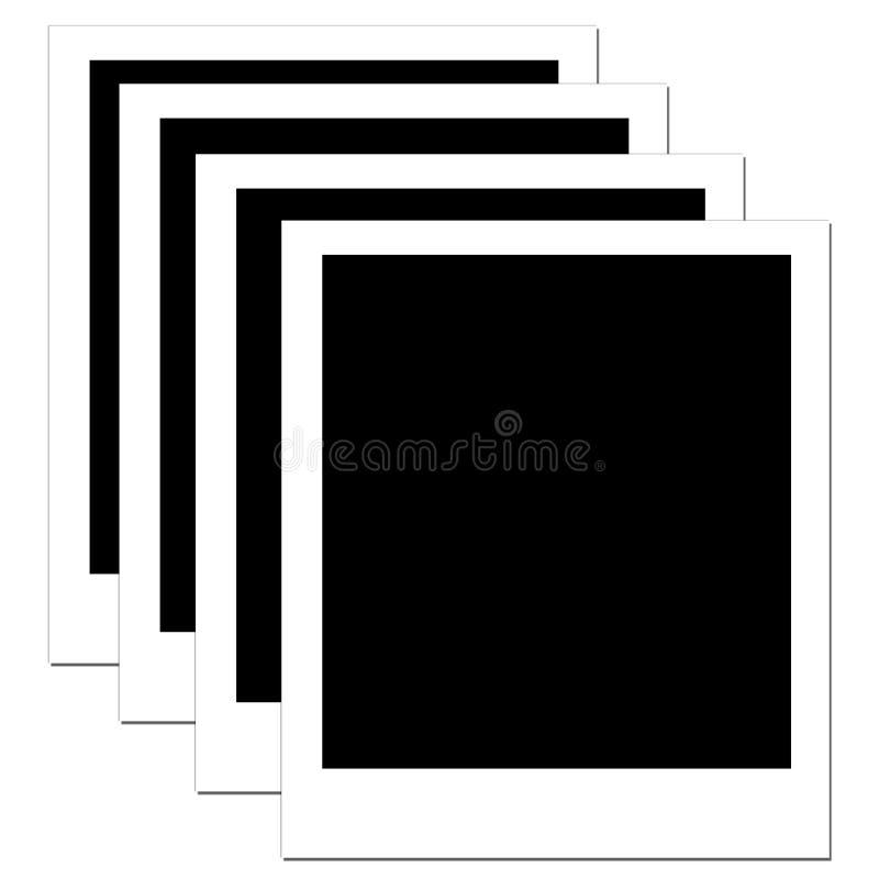 κενό polaroid 4 ελεύθερη απεικόνιση δικαιώματος