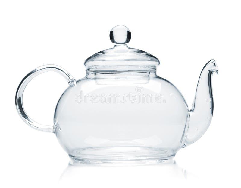 κενό teapot γυαλιού στοκ φωτογραφίες