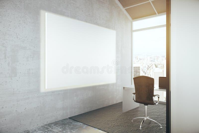 Κενό whiteboard στην αρχή διανυσματική απεικόνιση
