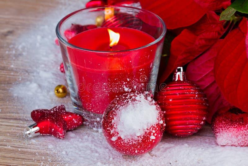 Κερί για τα Χριστούγεννα στοκ εικόνα