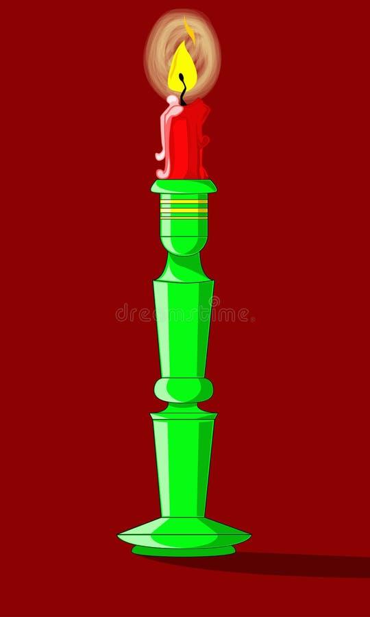 Κερί εικονιδίων σε ένα κηροπήγιο διανυσματική απεικόνιση