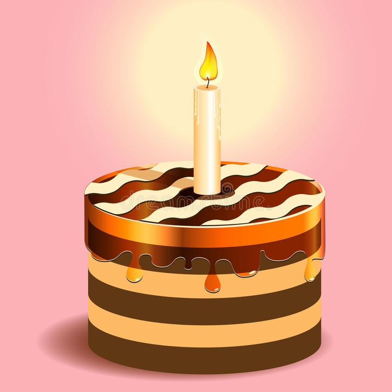 κερί κέικ διανυσματική απεικόνιση