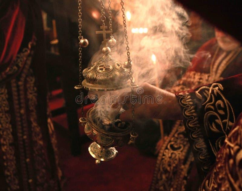 Κερί με το θυμίαμα στοκ εικόνες