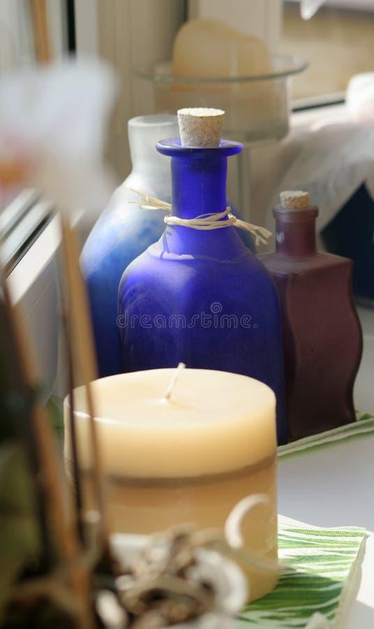 κερί μπουκαλιών στοκ φωτογραφία με δικαίωμα ελεύθερης χρήσης