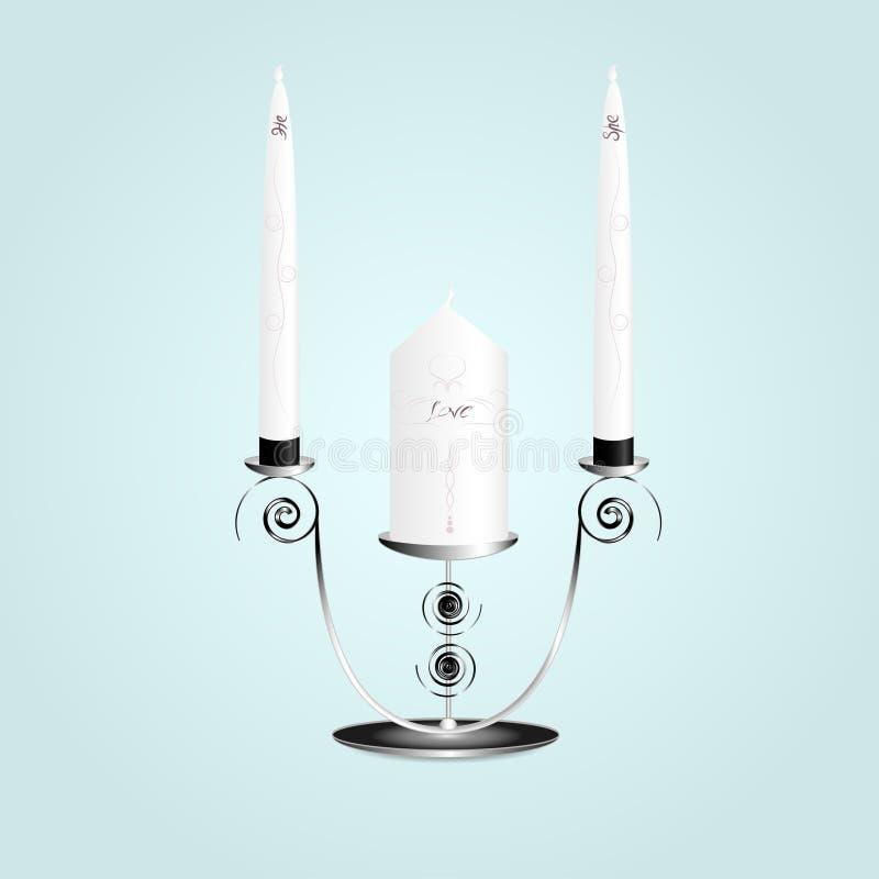 Κερί σε ένα κηροπήγιο ελεύθερη απεικόνιση δικαιώματος