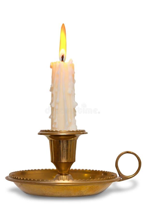 Κερί στον κάτοχο ορείχαλκου   στοκ φωτογραφία με δικαίωμα ελεύθερης χρήσης