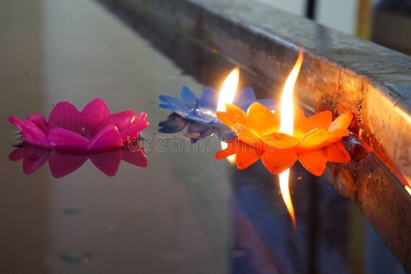 Κερί στο νερό στοκ εικόνες με δικαίωμα ελεύθερης χρήσης