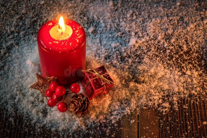 Κερί Χριστουγέννων - κάρτα Χριστουγέννων στοκ εικόνα με δικαίωμα ελεύθερης χρήσης
