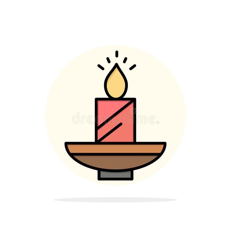 Κερί, Χριστούγεννα, Diwali, Πάσχα, λαμπτήρας, φως, κεριών αφηρημένο κύκλων εικονίδιο χρώματος υποβάθρου επίπεδο απεικόνιση αποθεμάτων