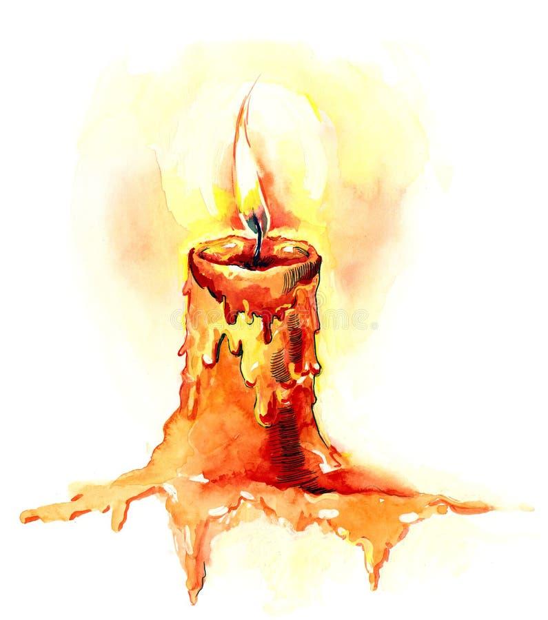 κερί διανυσματική απεικόνιση