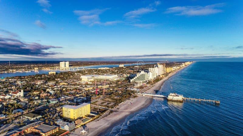 Κεραία ακτών Daytona Beach, Φλώριδα, ΗΠΑ στοκ φωτογραφία με δικαίωμα ελεύθερης χρήσης