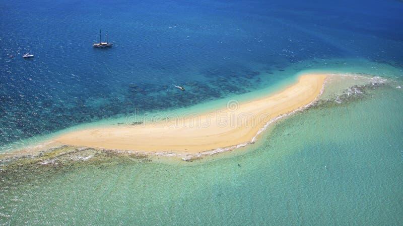 Κεραία ενός νησιού προορισμού στο Whitsundays Αυστραλία στοκ φωτογραφίες