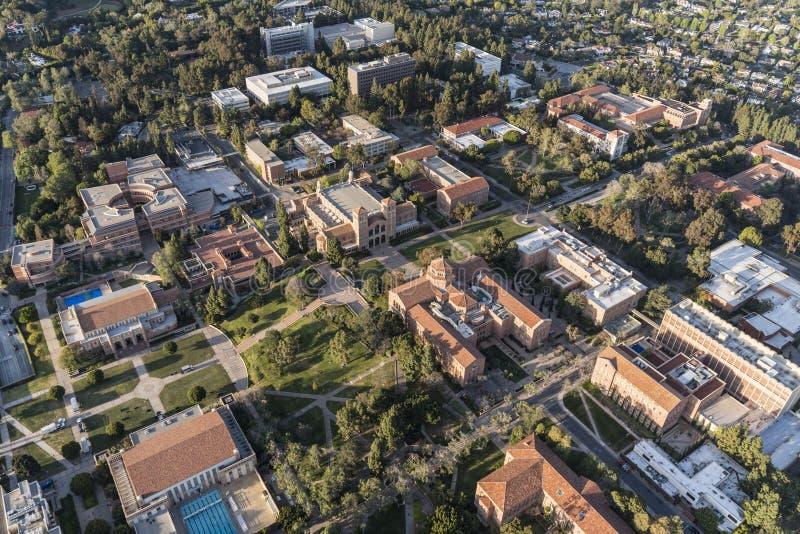 Κεραία κτηρίων πανεπιστημιουπόλεων UCLA στοκ εικόνες με δικαίωμα ελεύθερης χρήσης
