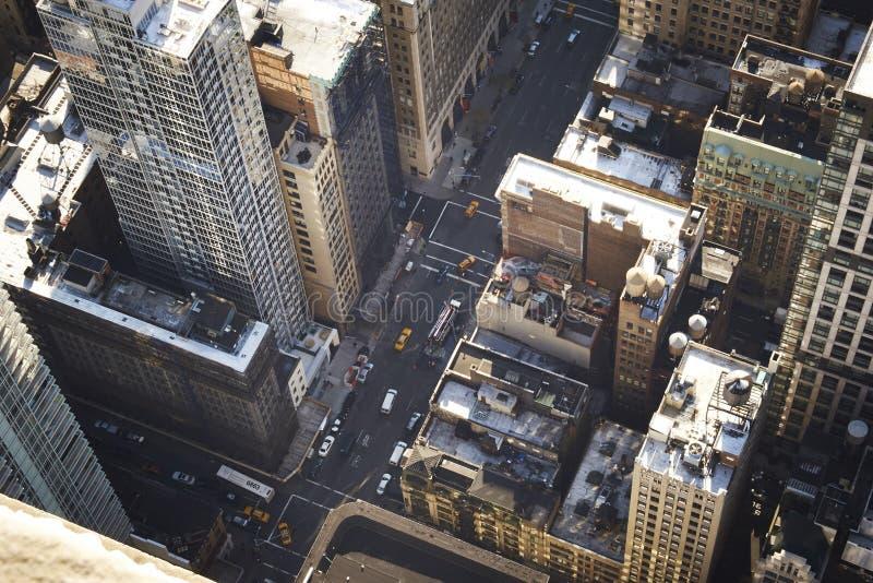 Κεραία πόλεων της Νέας Υόρκης στοκ εικόνες