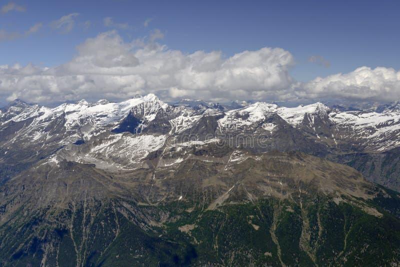 Κεραία σειράς Rheinwaldhorn από τη δύση, Ελβετία στοκ φωτογραφίες με δικαίωμα ελεύθερης χρήσης