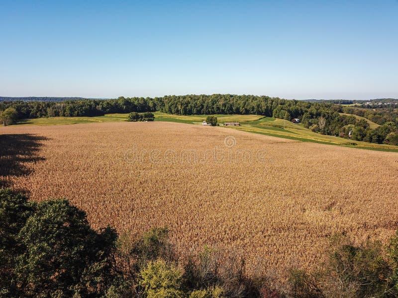 Κεραία της νέας ελευθερίας και του περιβάλλοντος καλλιεργήσιμου εδάφους σε νότιο Penns στοκ φωτογραφία με δικαίωμα ελεύθερης χρήσης