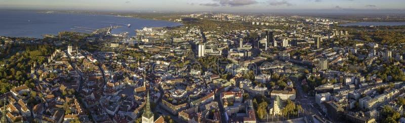 Κεραία της πόλης Ταλίν, Εσθονία στοκ φωτογραφία με δικαίωμα ελεύθερης χρήσης