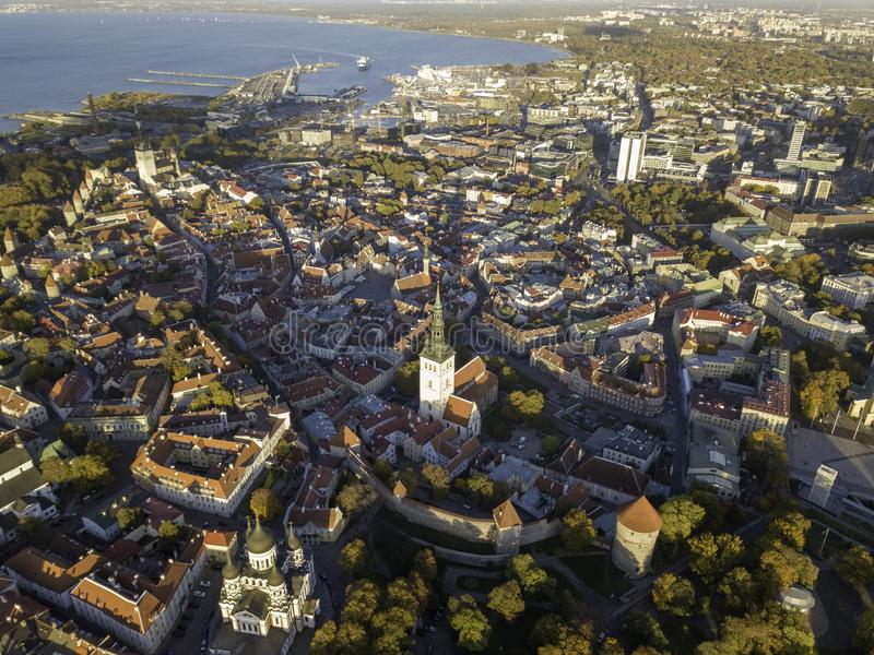 Κεραία της πόλης Ταλίν, Εσθονία στοκ εικόνα
